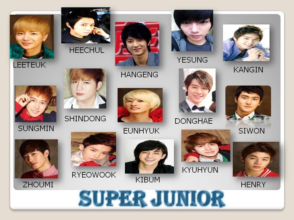 Members Name: SUPER JUNIOR MEMBERS