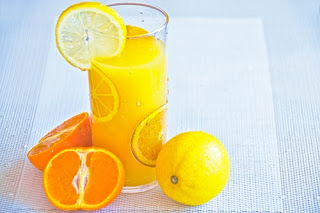 Orange and Tulsi juice for Navratri fast