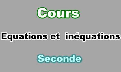 Cours Résolution Graphique des Equations et Inéquations Seconde PDF