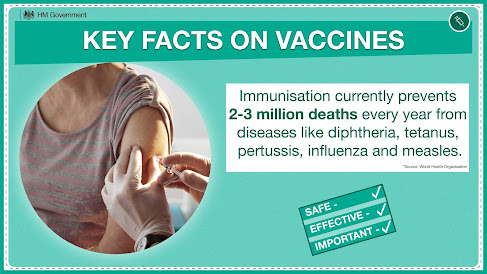 Immunisation saves lives UK Government Key facts data