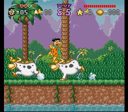 Jogue Flintstones Treasure Sierra Madrock grátis online para SNES