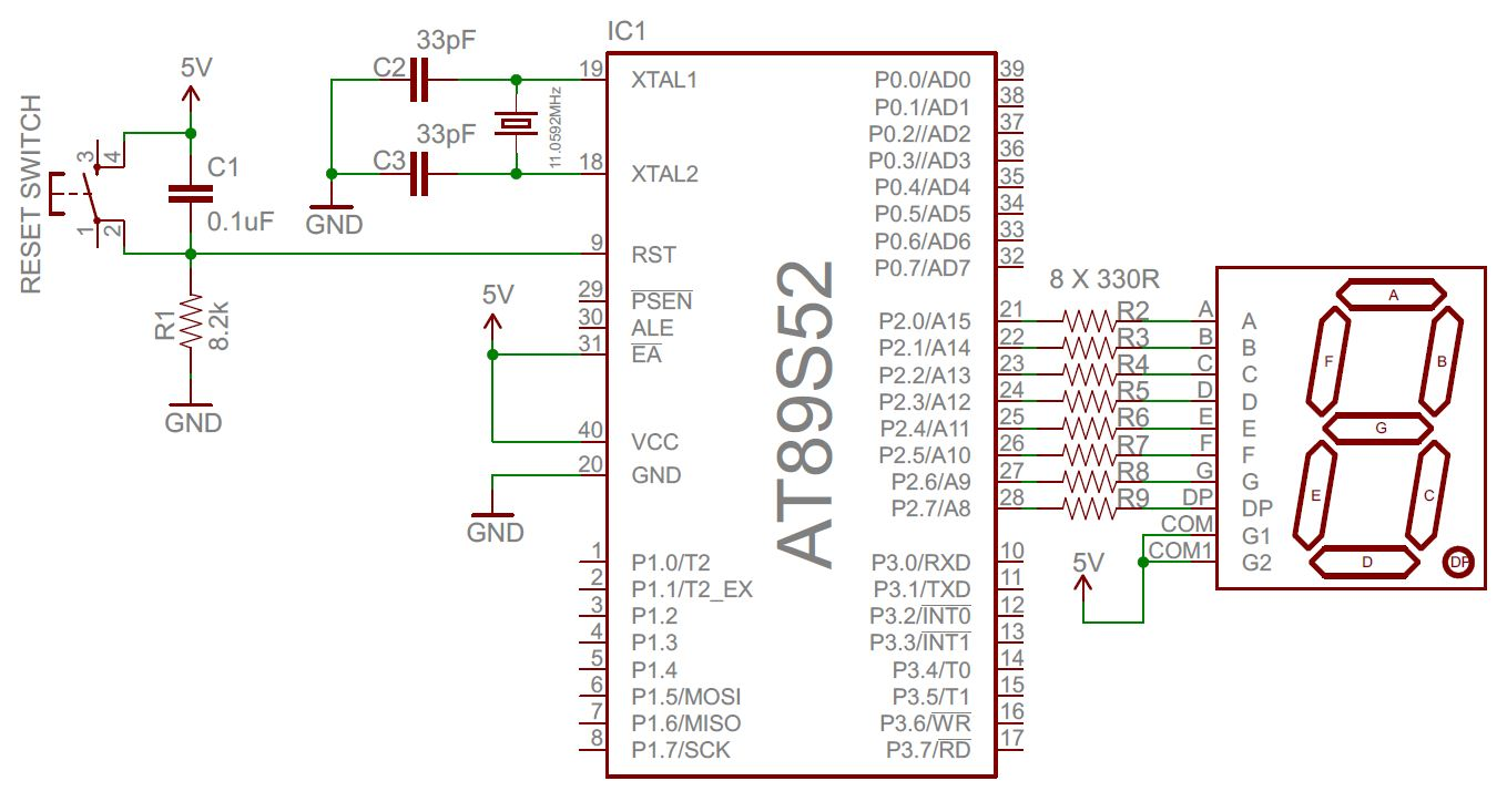 hight resolution of seven segment interface circuit diagram