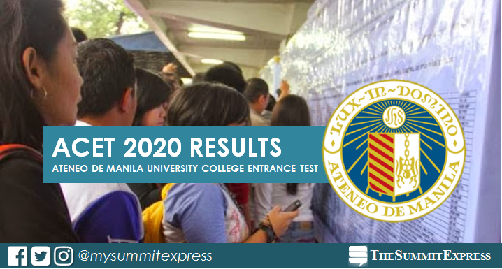 Ateneo releases ACET Results for AY 2020-2021