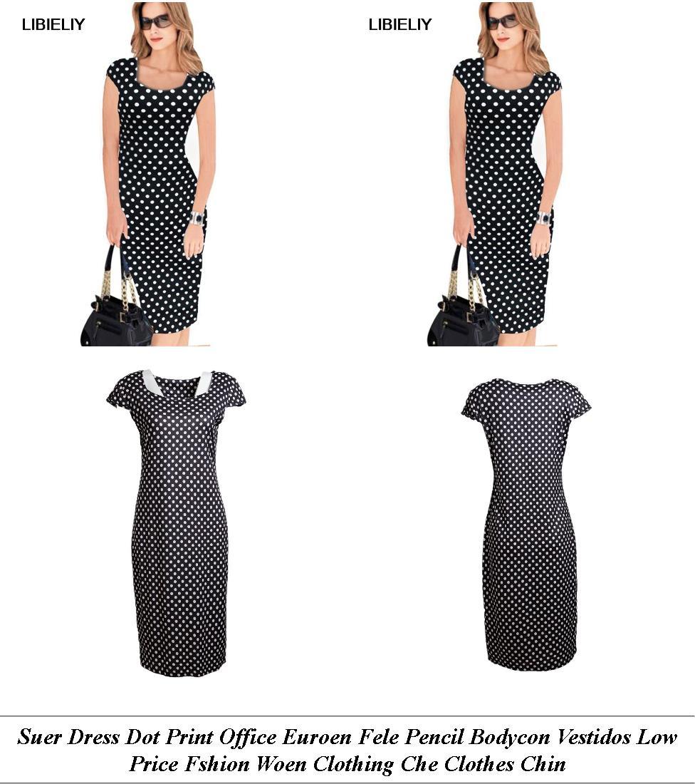 Evening Dresses - Online Sale Sites - Denim Dress - Cheap Womens Clothes