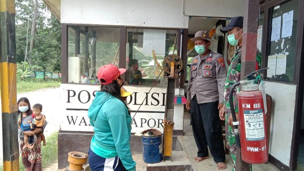 Penyekatan diperketat di Pos Kalbar-Kalbar-Kalteng di KM 80 Melawi