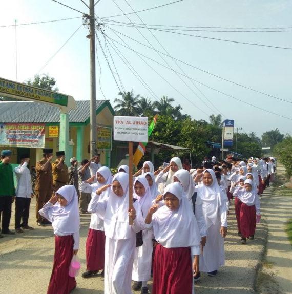 Pembukaan MTQ dan Festival Nasyid tingkat desa gelar di Desa Padang sari Tinggi Raja Kabupaten Asahan
