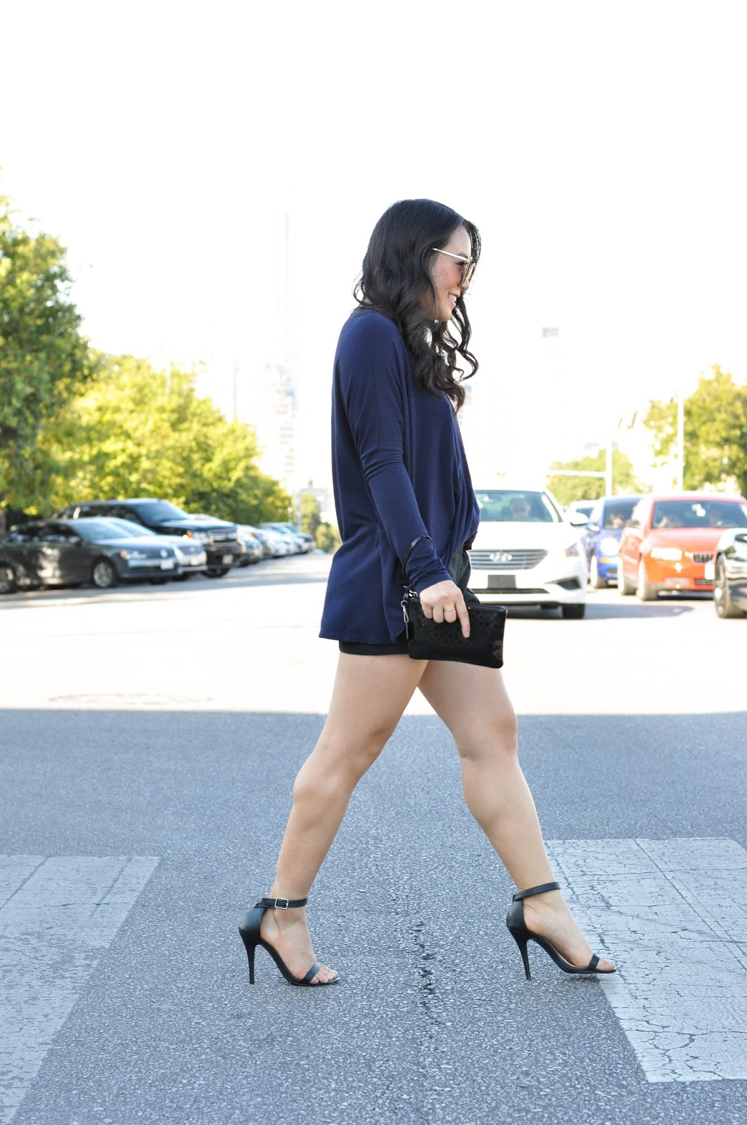 nordstrom black strap heels tobi blue top south congress austin