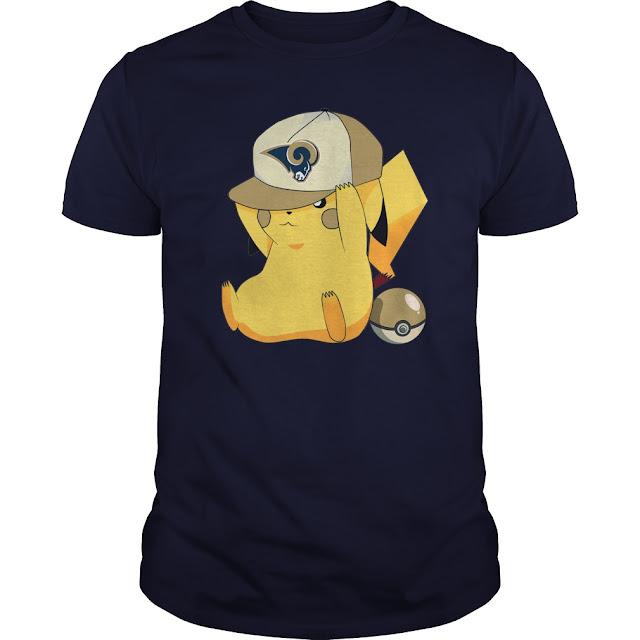 Los Angeles Rams Pikachu Shirt