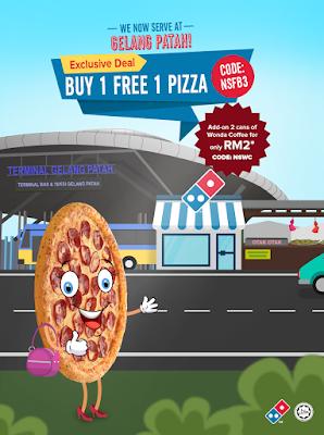 Domino's Pizza Malaysia Buy 1 Free 1 Promo