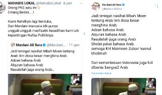 Bercuit tentang Ucapan Alm Mbah Moen soal Arab, Petinggi PKS Dihujat Netizen