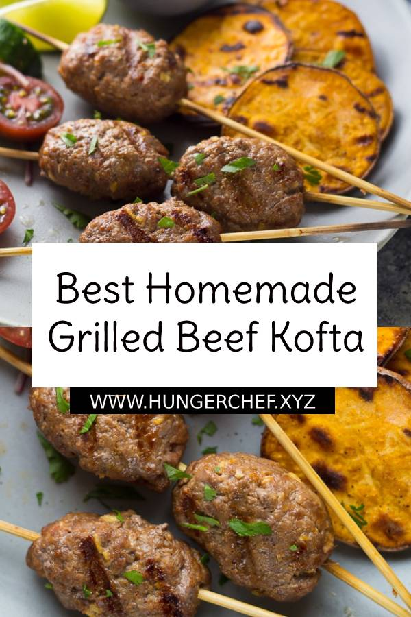 Best Homemade Grilled Beef Kofta with Coconut Sauce. Beef Kofta grilled over charcoal or gas grill and served with delicious homemade spicy coconut sauce. #beef #grilled #kofta #beefkofta #homemade #bestbeefrecipe #beefrecipe #homemaderecipe #dinner #dinnerrecipe #easydinnerrecipe #spicy #bestdinnerrecipe #bestdinner #bestrecipe #dish #maindish
