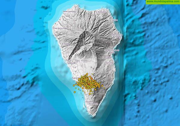 La actividad sísmica continúa en Cumbre Vieja con unos 200 seísmos en un solo día