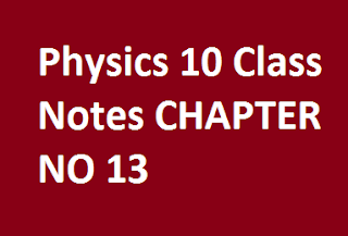 Physics 10 Class Notes CHAPTER NO 13