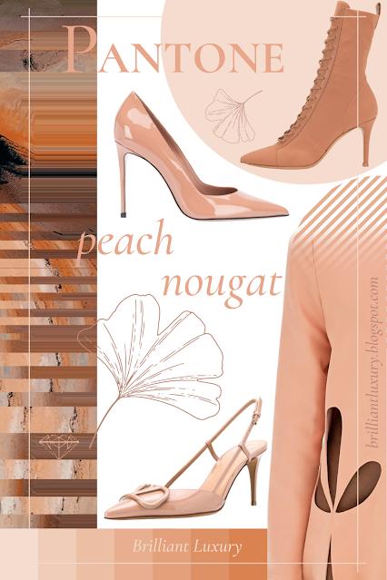 Pantone Fashion Color Peach Nougat AW 2020-21 #brilliantluxury
