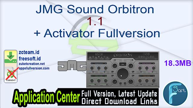 JMG Sound Orbitron 1.1 + Activator Fullversion