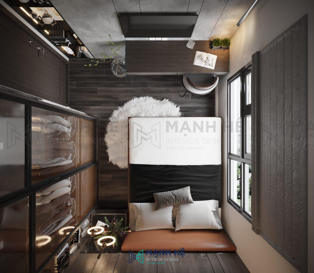 Mẫu Thiết kế nội thất phòng ngủ 9m2 cao cấp