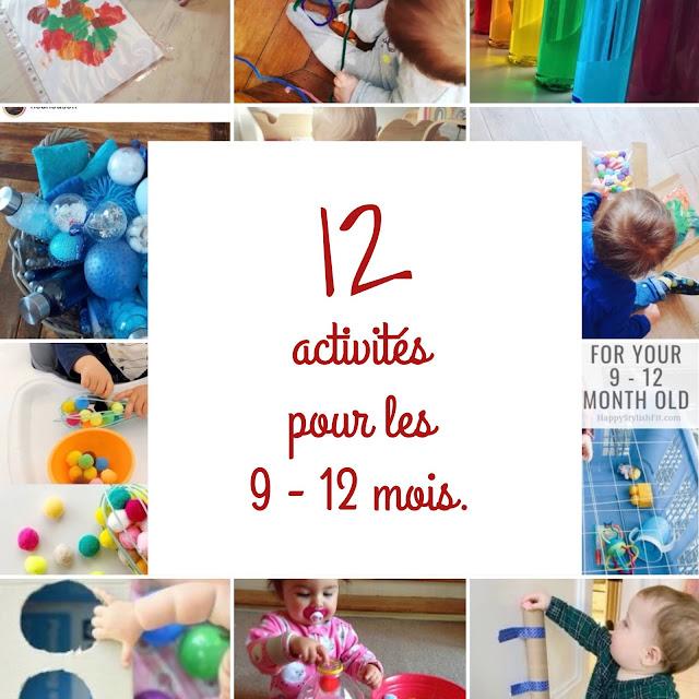 12 activités d'éveil pour les 9 - 12 mois
