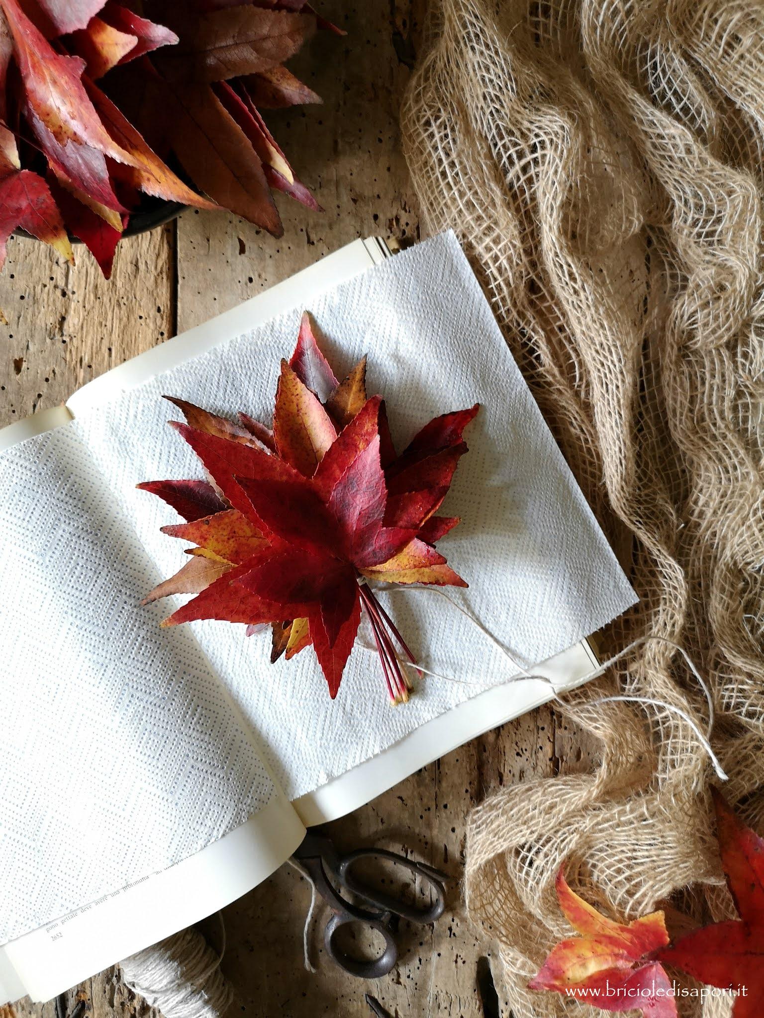 idee con le foglie secche