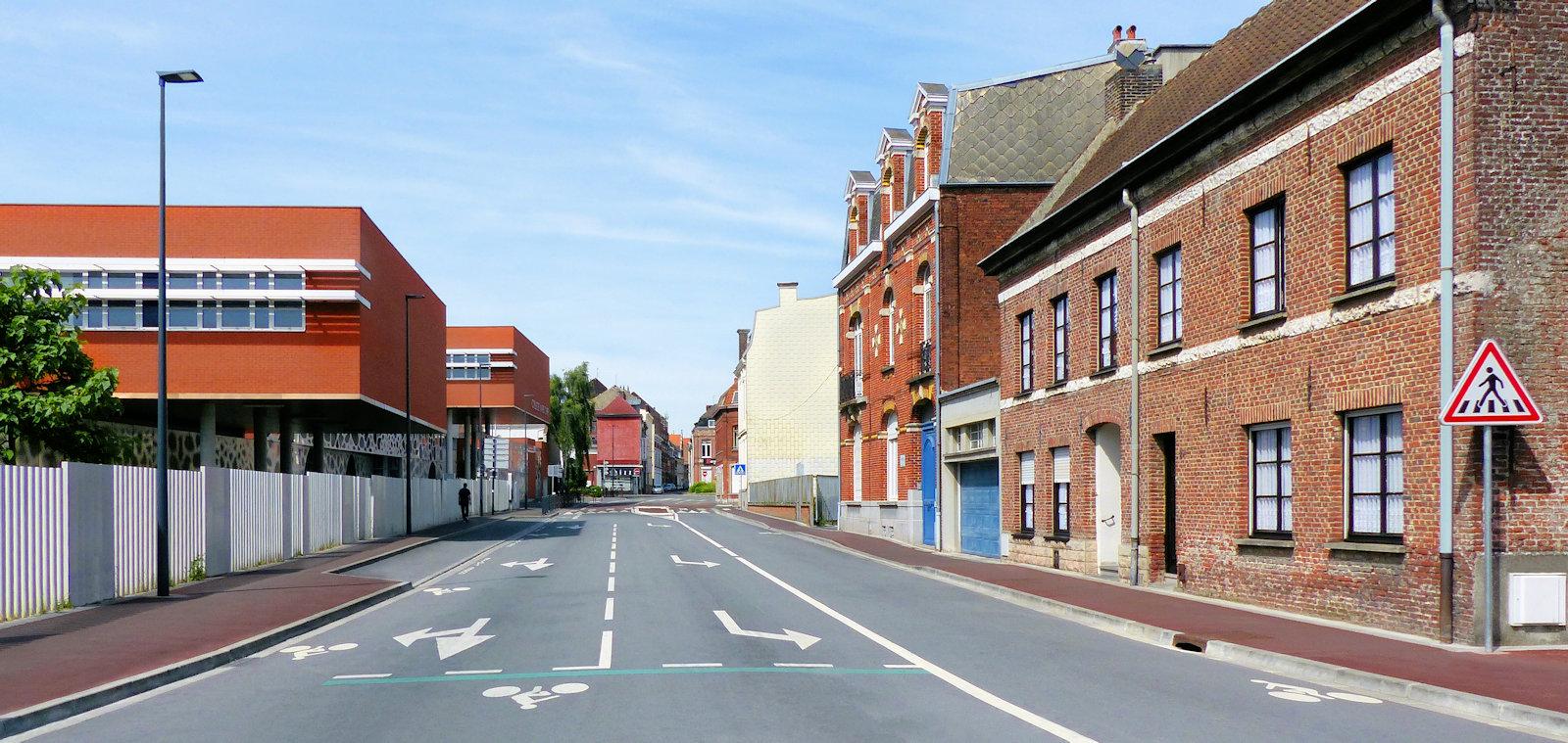 La rue des Ursulines de Tourcoing