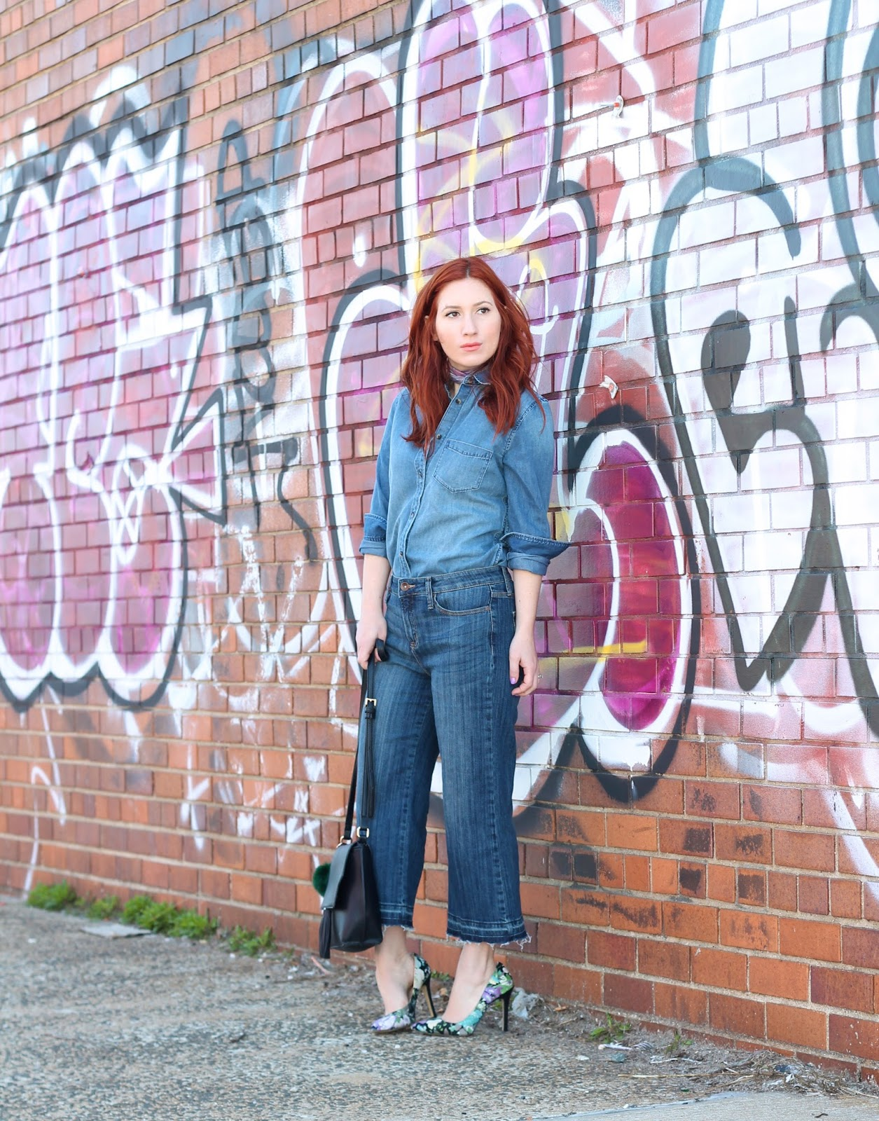 culottes, how to wear culottes, easy culotte style, easy culotte outfits, 70s inspired outfit ideas, denim on denim outfits, denim on denim, denim, outfits, style,  fashion blogger, red head fashion blogger.