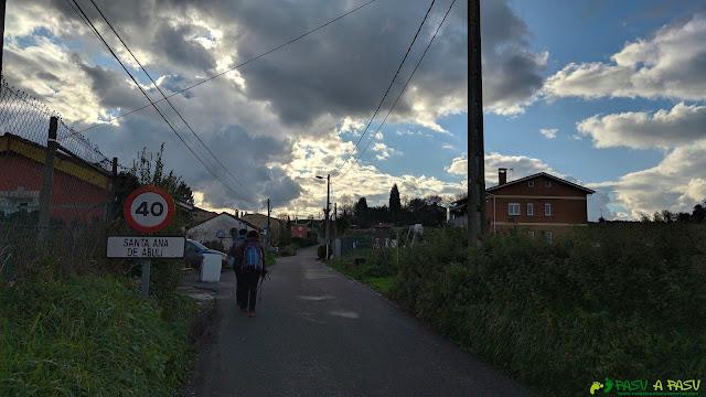 Entrando en Santa Ana de Abuli