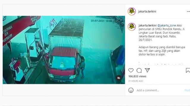 Aksinya Viral, Pencuri Uang Puluhan Juta di SPBU Duri Kosambi Akhirnya Tertangkap