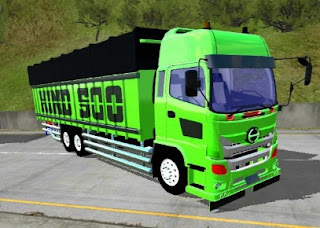 download mod bussid truck hino 500 tribal