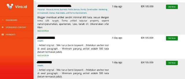 Dapat Cuan Tambahan dari Blog Lewat Vira.id