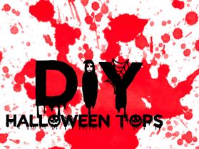 SPOOKTEMBER SERIES// DIY Ghoulish Tops