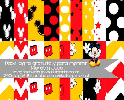 Papel de mickey mouse para imprimir