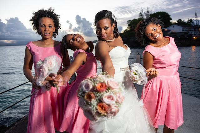 mariage Guadeloupe cortège fleurs