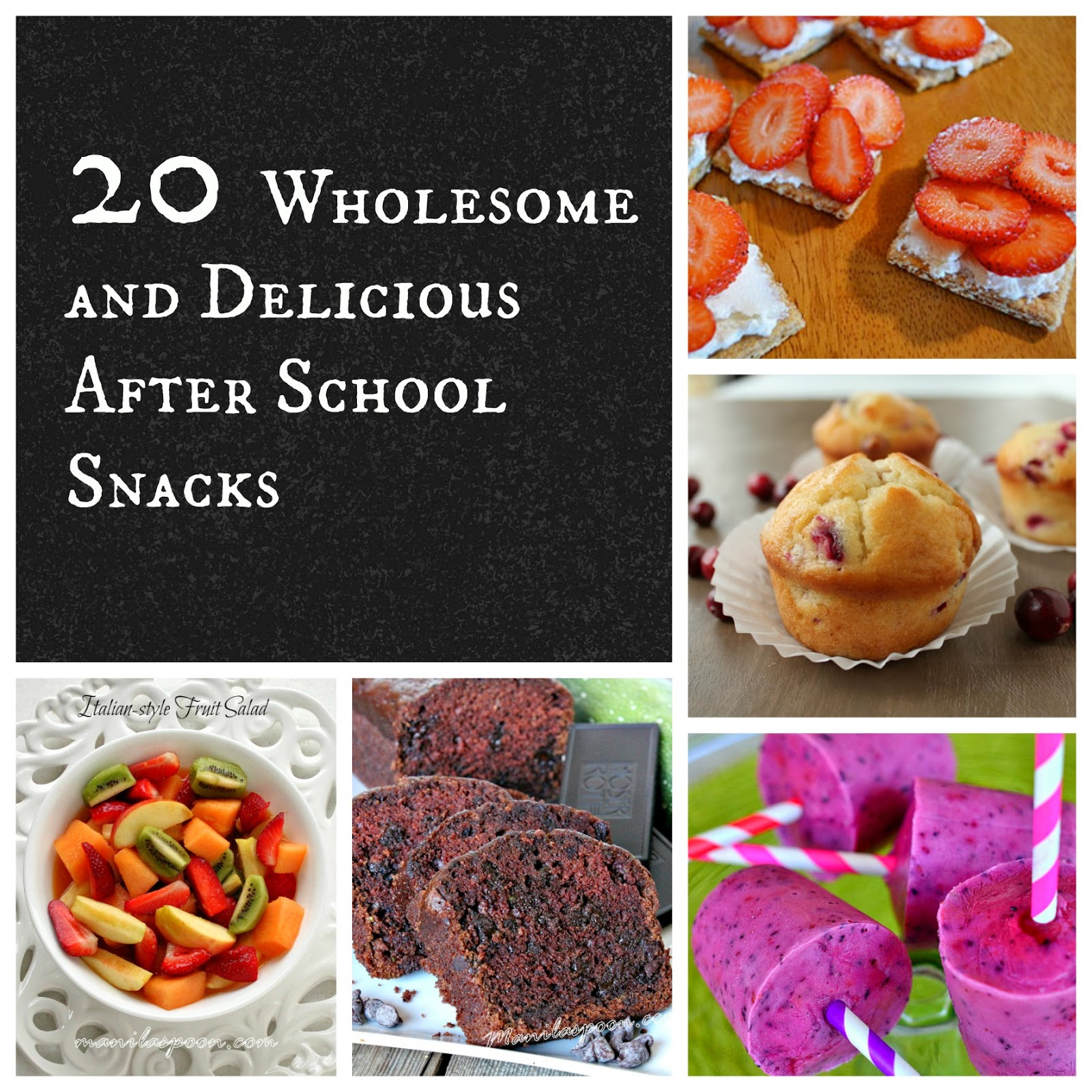 20 Wholesome and Delicious After School Snacks