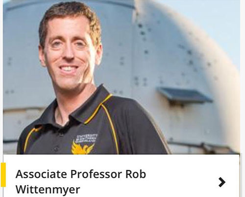 Associate Professor Rob Wittenmyer, USQ (Source: USQ)