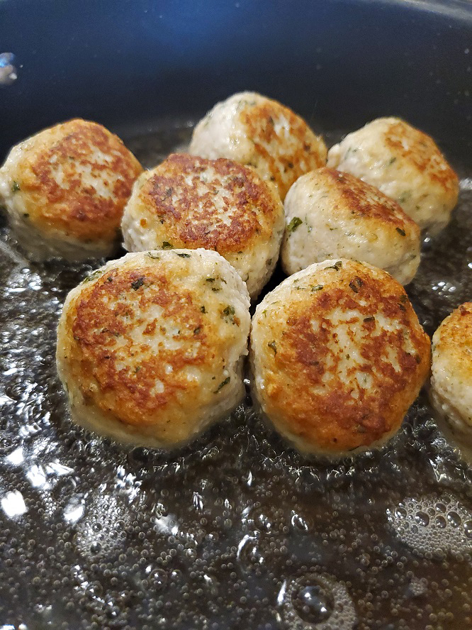these are cooked chicken meatballs