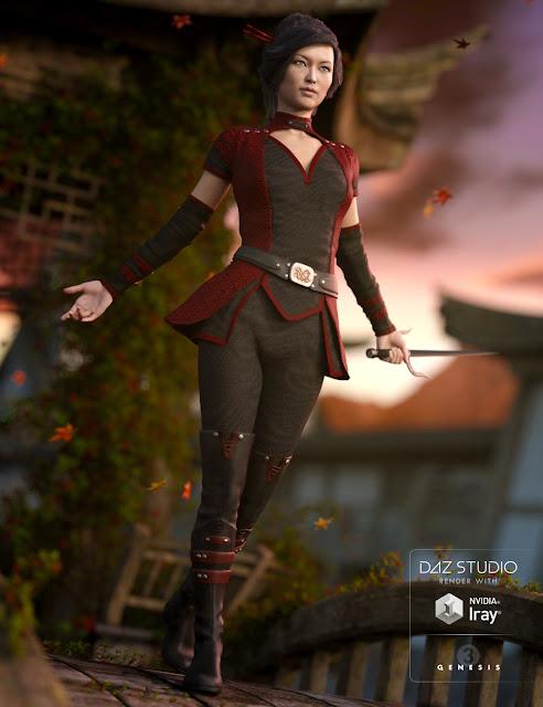 Darkshade Outfit for Genesis 3 Female