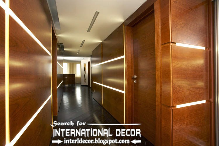 modern wood wall panels and paneling for walls with led lights