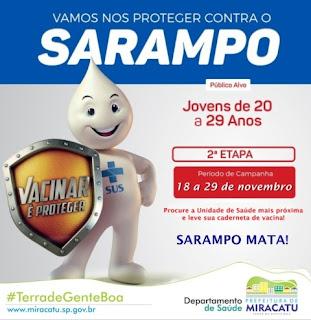 Miracatu inicia 2ª etapa da Campanha de Vacinação contra o Sarampo