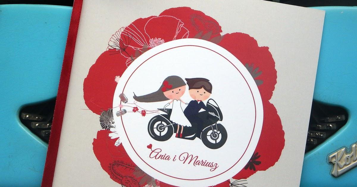 Polkastudio Zaproszenie ślubne Dla Motocyklistów
