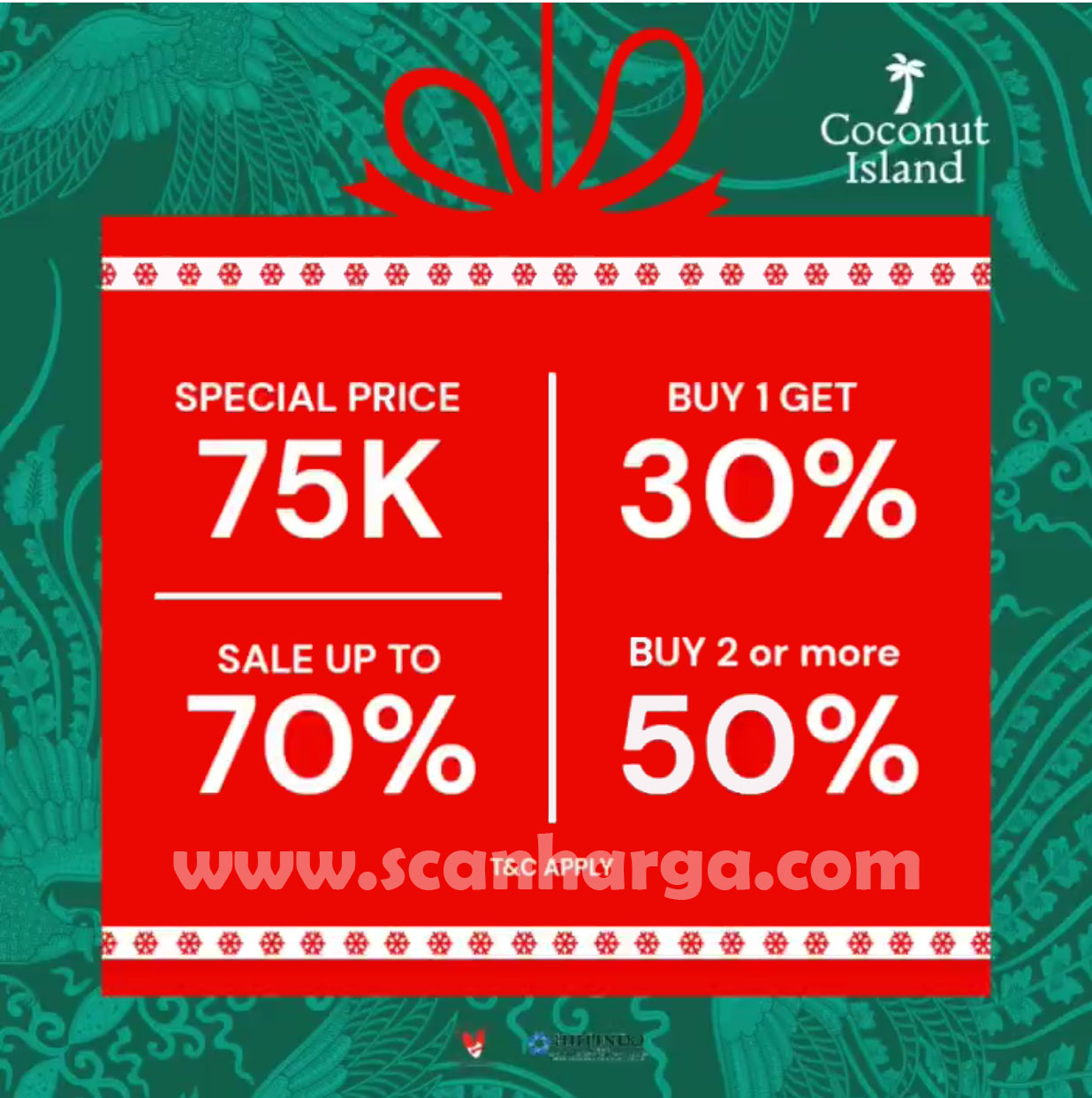 Promo Coconut Island Special Price 75K, Sale Up To 70%, Buy 1 Get 30% & Buy 2 Get 50%