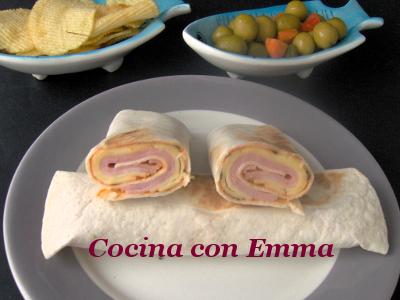 Tortitas mejicanas de jamón y queso