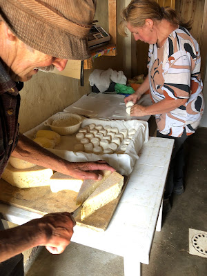 Buying cheese and butter at Casera Valletto.