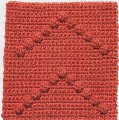 Patrón #1219: Carpeta Flechas de Pompones.