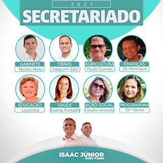 MAURITI :  Prefeito Isaac Júnior e o vice João Paulo anunciam nomes para compor seu secretariado