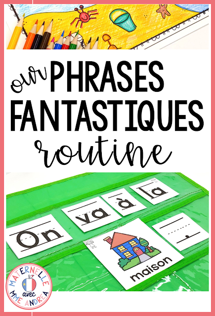 Want to give pocket chart sentences a try in maternelle, to help your students master 1:1, directionality, sight words, French vocabulary, and more? Our « phrases fantastiques » Routine  by Maternelle avec Mme Andrea will help you get your French pocket chart sentence routine up and running, and ensure your students are getting the most out of their phrases fantastiques time!