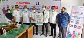 RSUD Rantauprapat Terima 100 Pcs APD Hazmat Dan 100 Pcs Masker Dari Pertamina