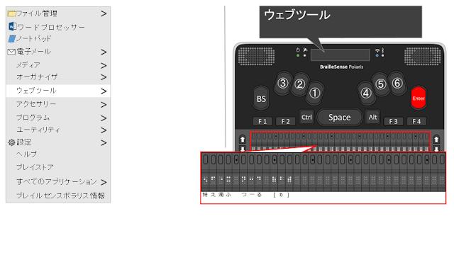 ウェブツールと表示され、Enterが赤く示されたポラリスのイメージ図