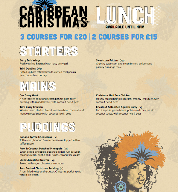 Christmas Days Out for Teens in North East England - turtle bay christmas lunch menu