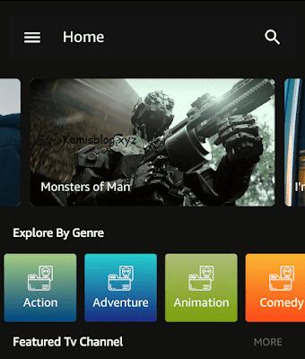 free tv app interface