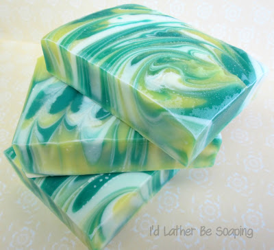 I'd Lather Be Soaping: Lemon-Lime Spinning Swirl Fail