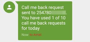 request sent